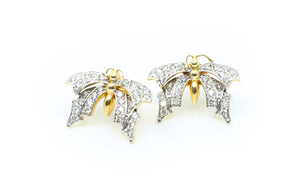 Diamonds Butterfly Earrings