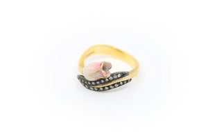 Pink and White Tulip Ring