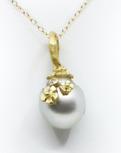 Grey Fresh Water Pearl Pendant