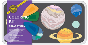 Solar System coloring kit - large