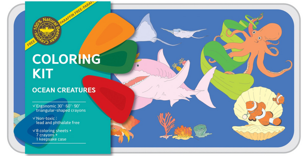 Ocean Creatures - coloring kit - large