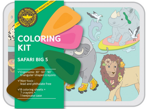 Safari - coloring kit - Small