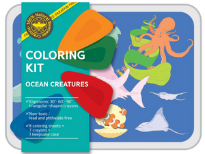 Ocean Creatures - coloring kit - Small