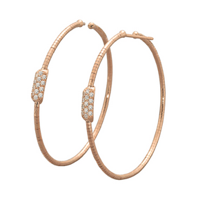 Gold Flex Hoop Earrings