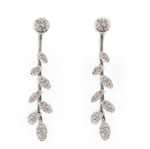 White BE Drop Earrings