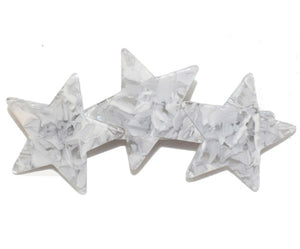 Marbleized Star Trio Barrette