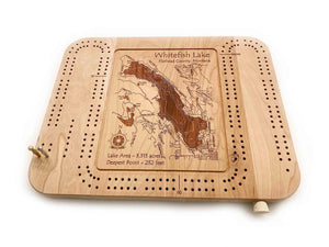 Etched Cribbage Board - Whitefish