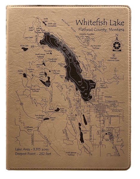 Note Pad - Small - Whitefish Lake and town