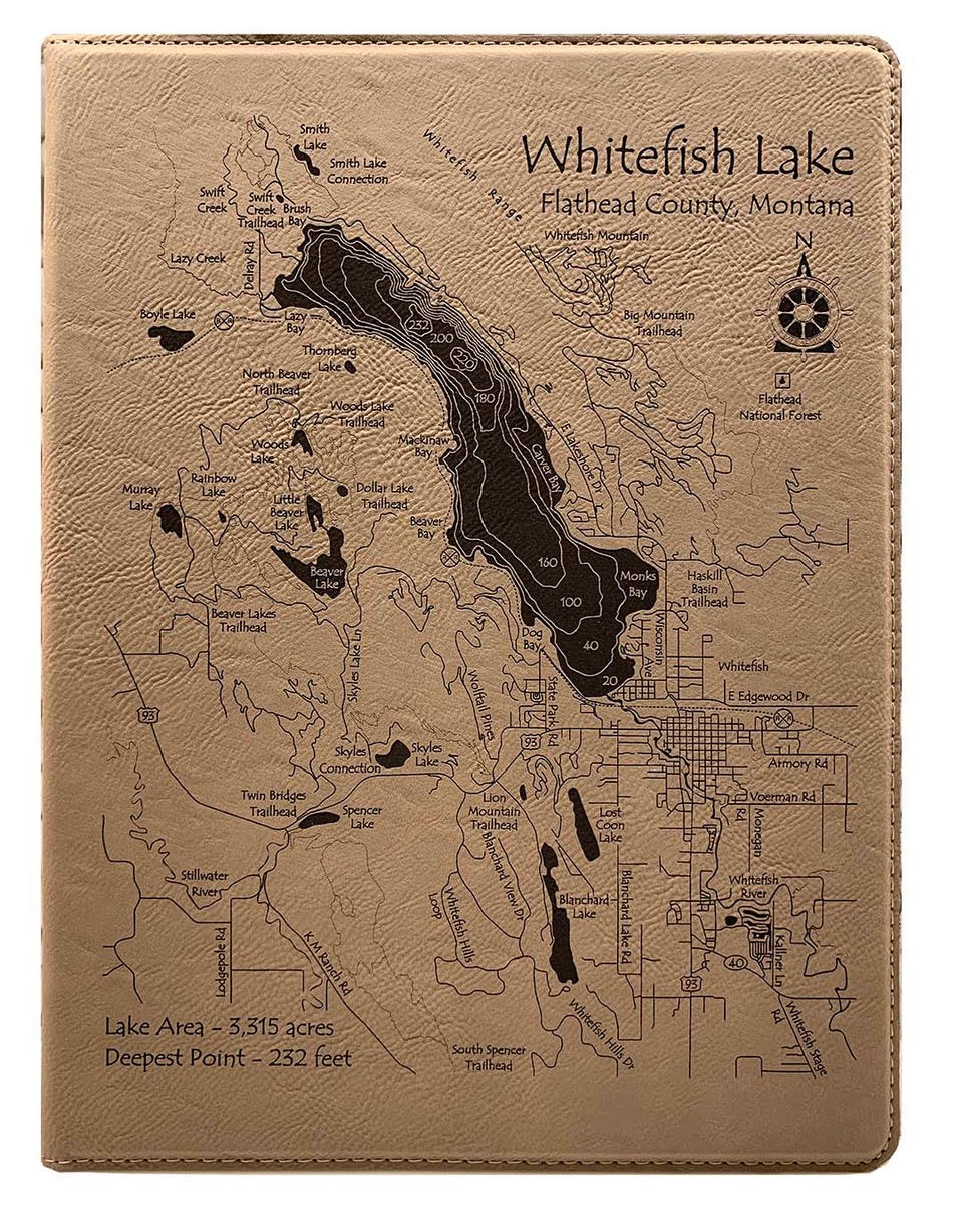 Note Pad - Large - Whitefish Lake and town