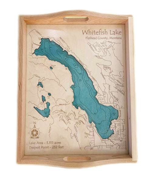Etched Tray - Whitefish lake