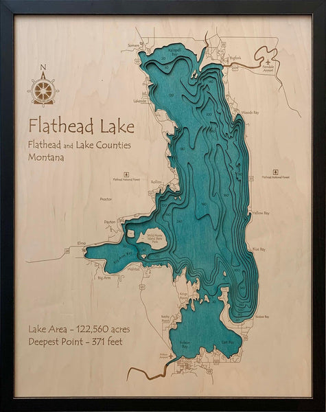 Etched Wall Art - Flathead - Large