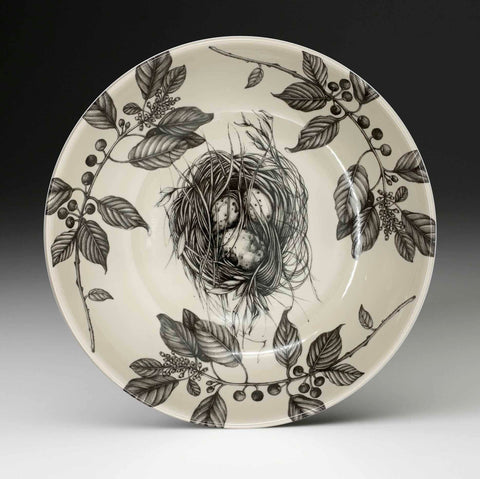 Shallow Serving Bowl - Quail Nest