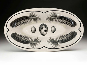 Oblong Serving Platter - Feather and Egg
