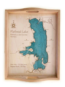 Etched Tray - Flathead Lake