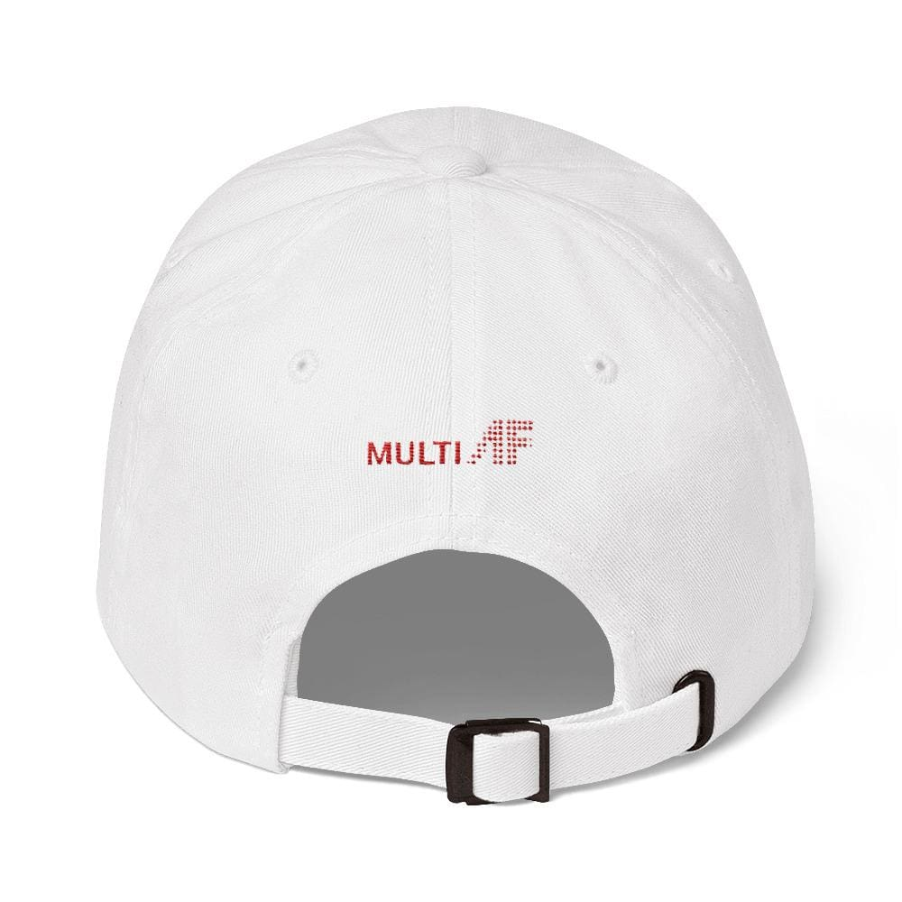 All Weather Embroidered Dad Cap (White) - Third Culture