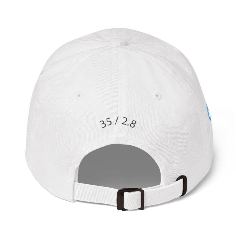 Mju Ii Embroidered Dad Cap (White) - Third Culture