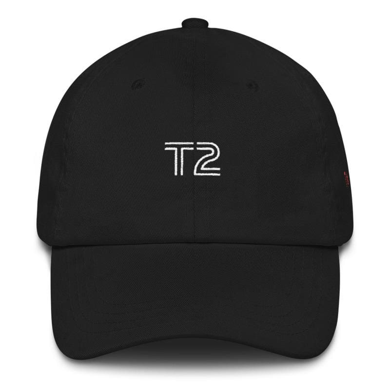 T2 Embroidered Dad Cap (Black) - Third Culture