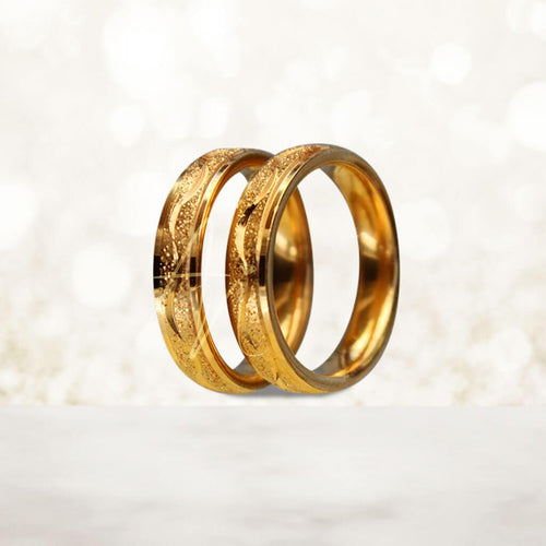 R1 Gold Couple Ring (Lifetime Warranty Guaranteed Non-Faded)