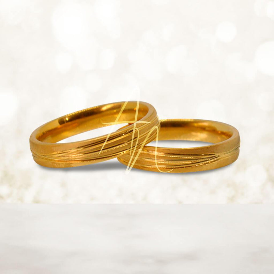 R4 Gold Couple Ring (Lifetime Warranty Guaranteed Non-Faded)