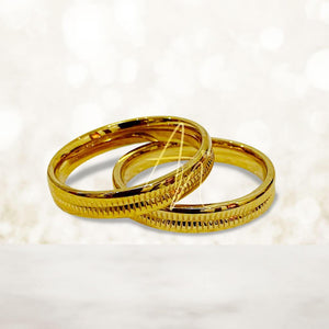 R7 Gold Couple Ring (Lifetime Warranty Guaranteed Non-Faded)