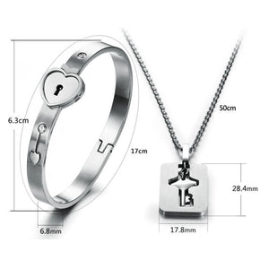 Anastacia Nicole Love-Lock Bracelet & Necklace