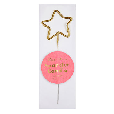 Meri Meri Sparkler Star Gold Mini Candle