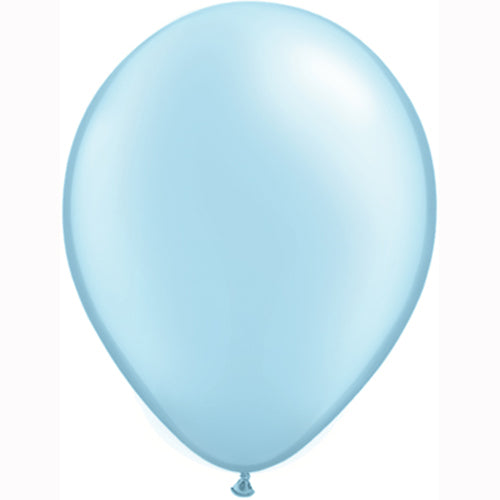 "11"" Pearl Blue Latex Balloons 6pc"