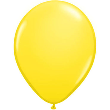 "11"" Yellow Latex Balloons 6pc"