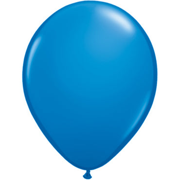 "11"" Dark Blue Latex Balloons 6pc"