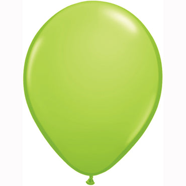 "11"" Lime Latex Balloons 6pc"