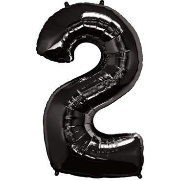 "34"" Black Number 2 Foil Balloon"