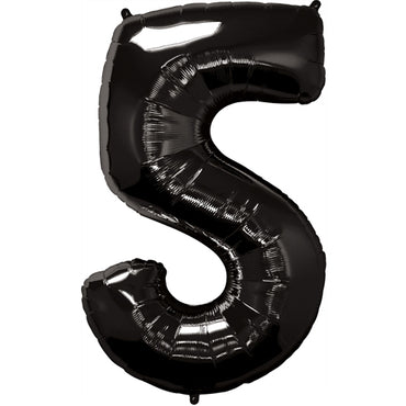 "34"" Black Number 5 Foil Balloon"