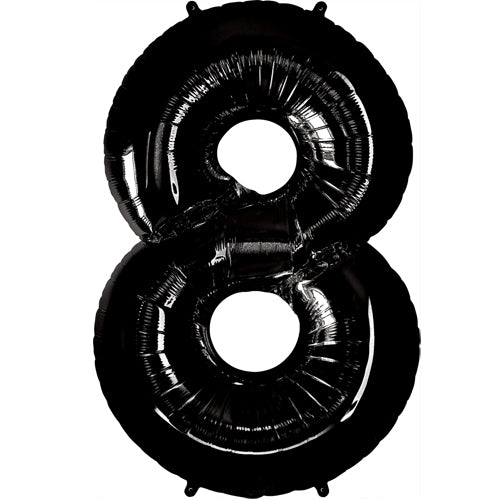 "34"" Black Number 8 Foil Balloon"