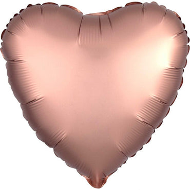 "18"" Rose Gold Satin Heart Foil Balloon"
