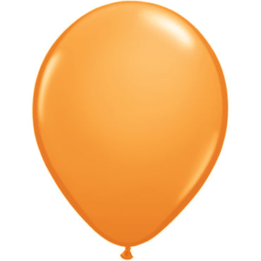 "11"" Orange Latex Balloons 6pc"