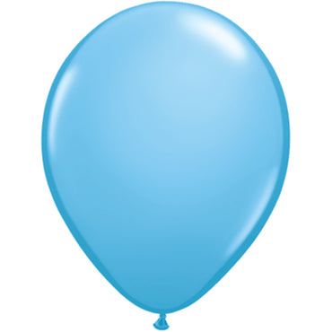 "11"" Pale Blue Latex Balloons 6pc"