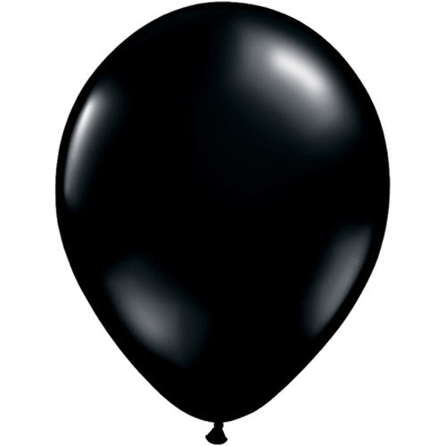 "11"" Black Latex Balloons 6pc"