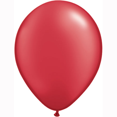 "11"" Pearl Red Latex Balloons 6pc"