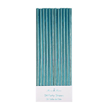 Meri Meri Aqua Foil Party Straws