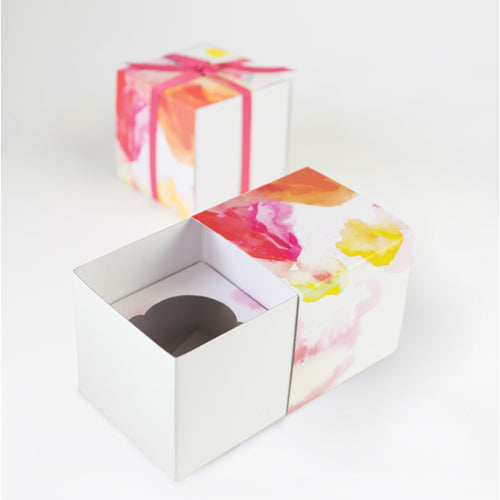 Floral Escape Gift Box With Cupcake Insert 6pc