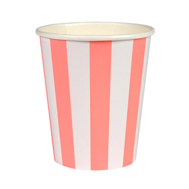 Meri Meri Coral Striped Cups