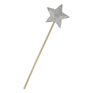 Silver Sparkle Star Wand