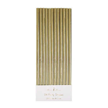 Meri Meri Gold Foil Party Straws