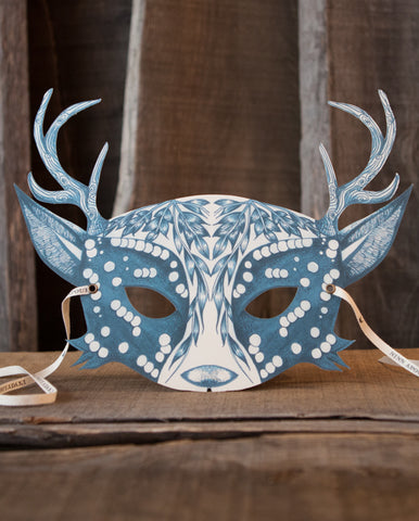 My Deer Indigo Adult Mask