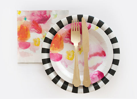 Paper Plate Black 12 Pc
