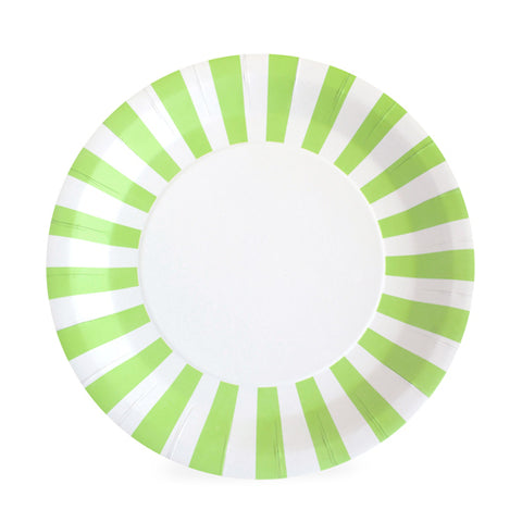 Paper Plate Apple Green 12 Pc