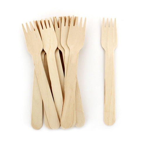 Wooden Cutlery - Small Forks 24pc