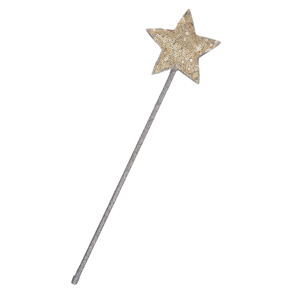 Gold Sparkle Sequin Star Wand