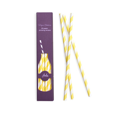 Paper Straws Lemon Yellow