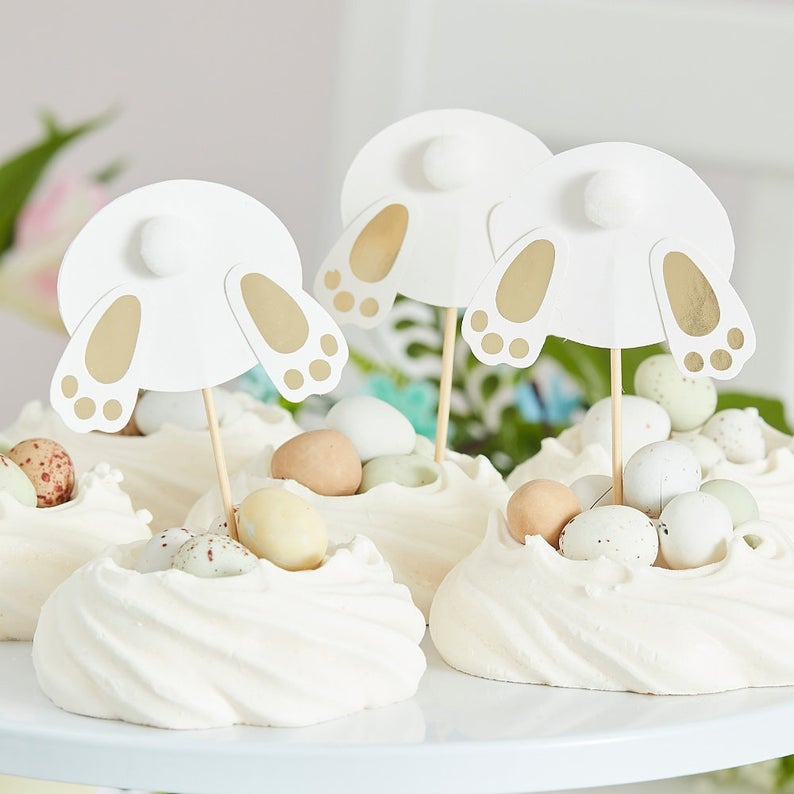 Easter Bunny Bum Cupcake Toppers